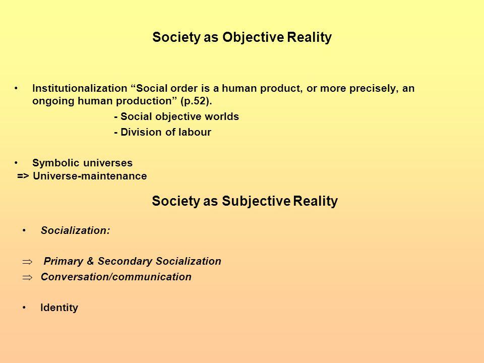 objective reality vs subjective reality