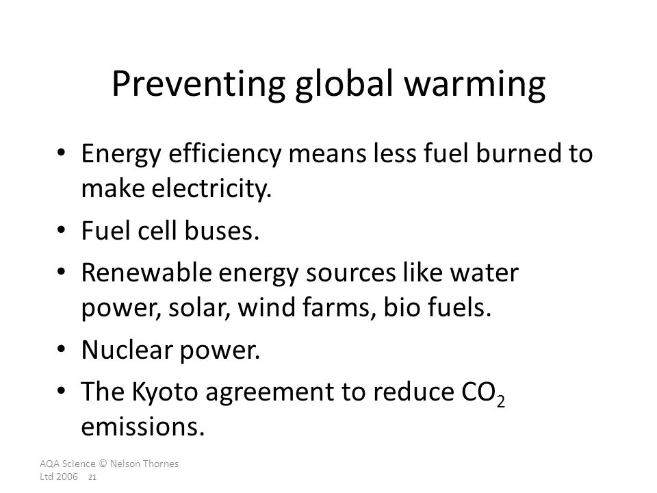 Preventing global warming