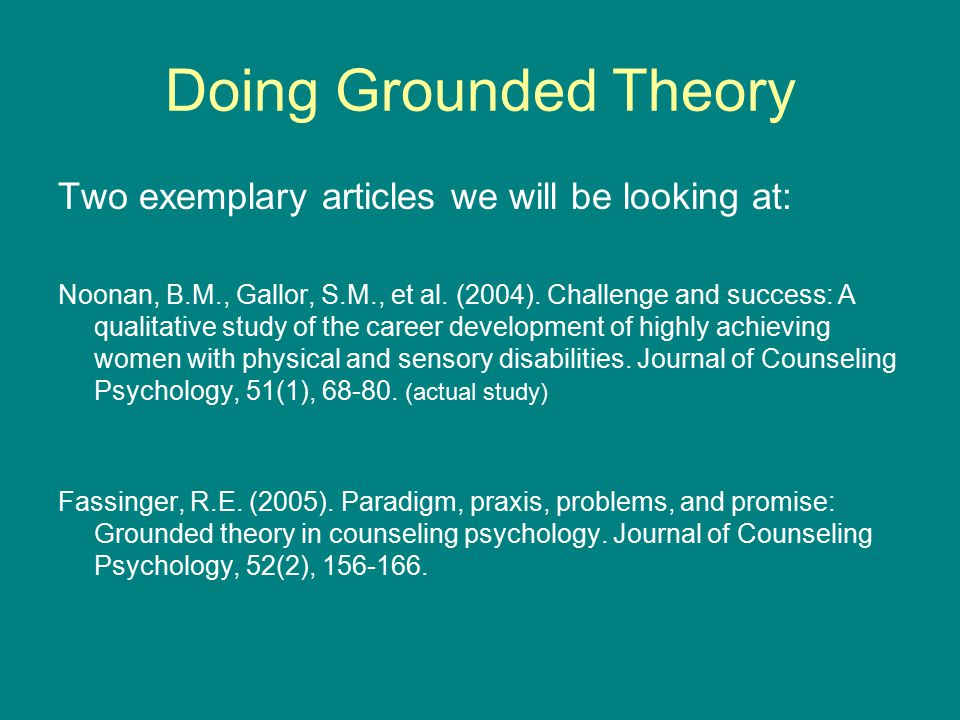 dissertation grounded theory Grounded theory is a research tool which enables you to seek out and conceptualise the latent social patterns and structures of your area of interest through the process of constant comparison.