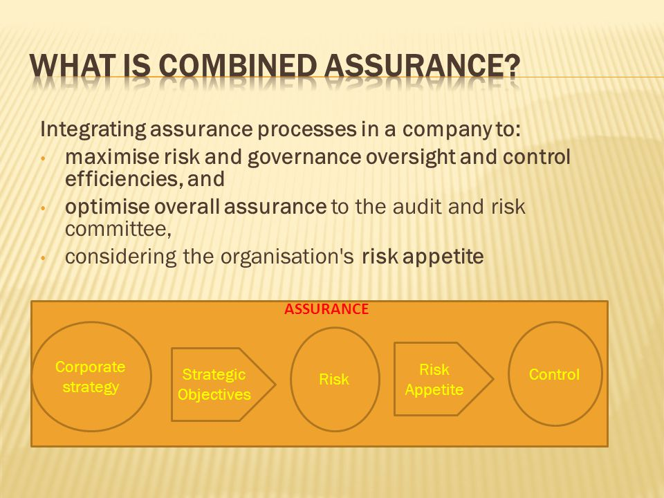What is combined assurance