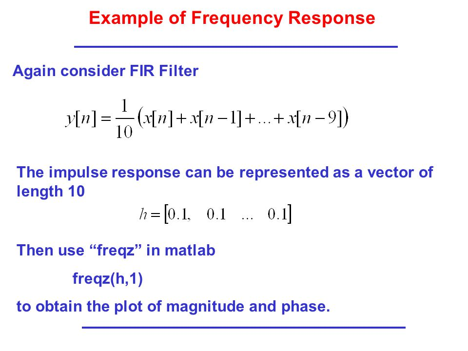 Example of Frequency Response