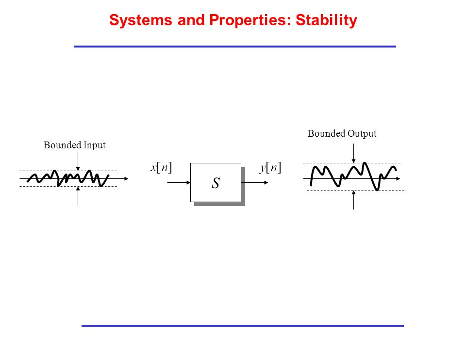 Systems and Properties: Stability