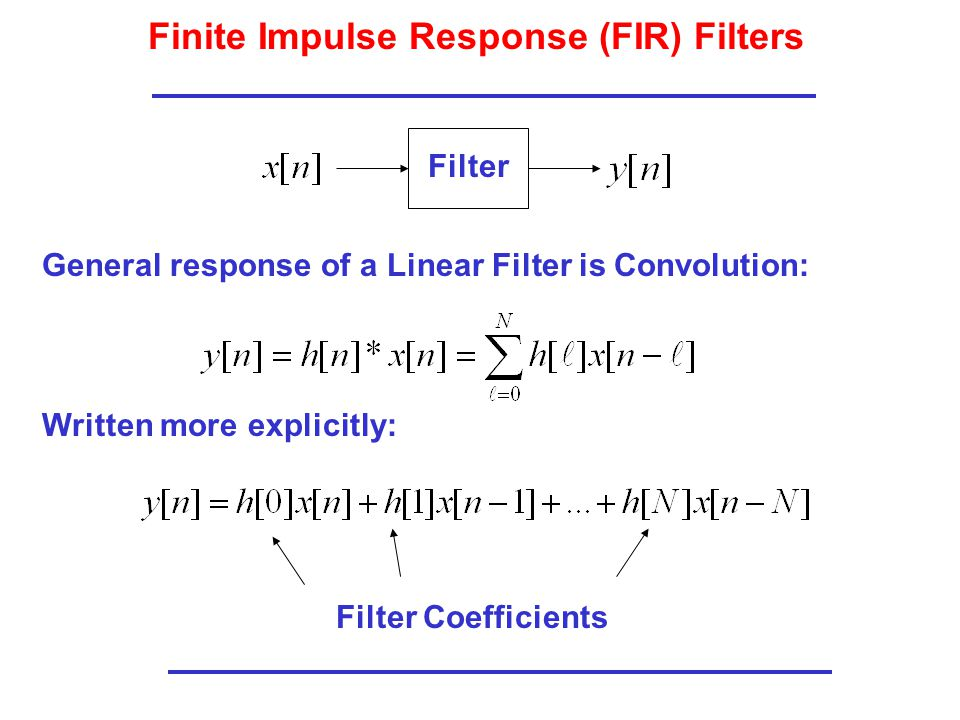 Finite Impulse Response (FIR) Filters