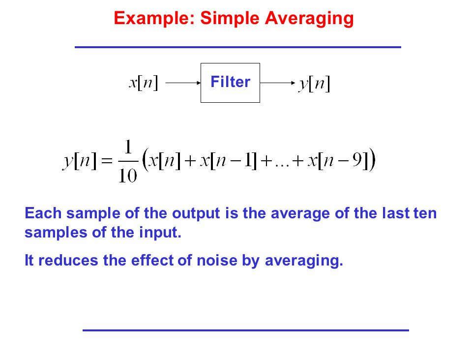 Example: Simple Averaging