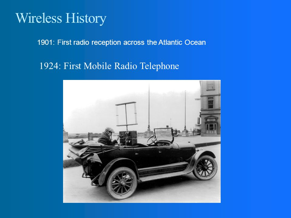 Wireless History 1924: First Mobile Radio Telephone