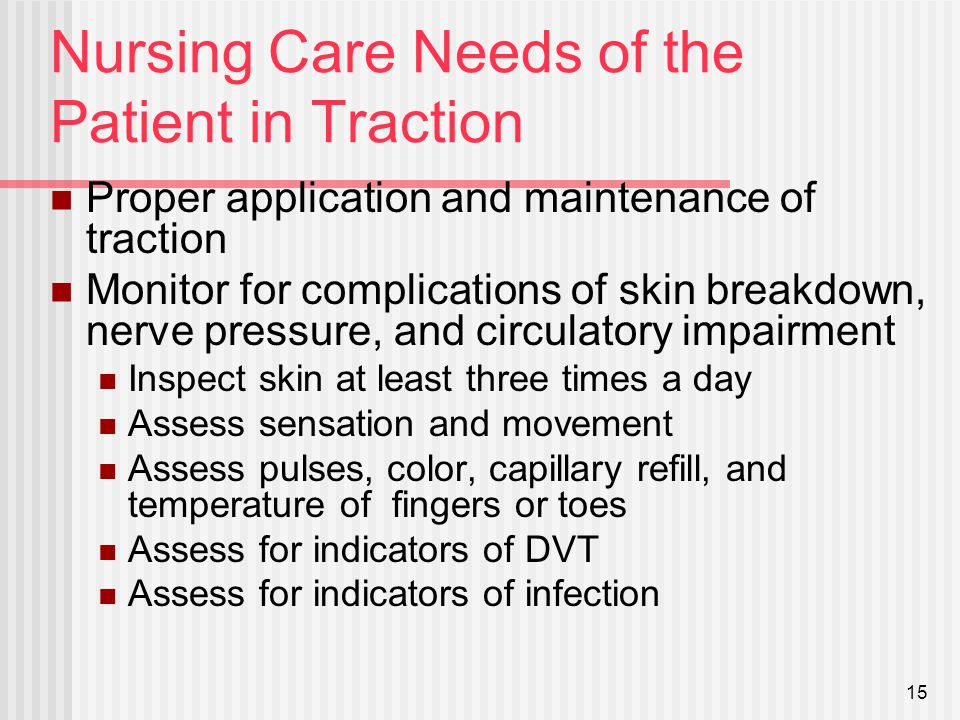 nursing management for traction ppt
