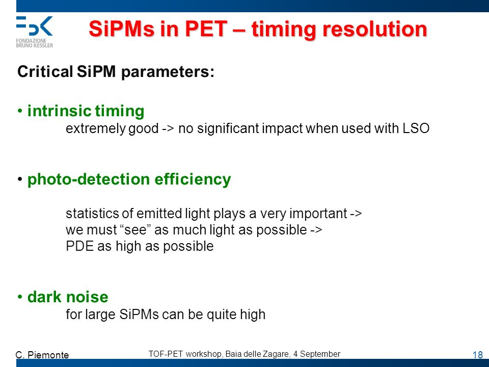 SiPMs in PET – timing resolution