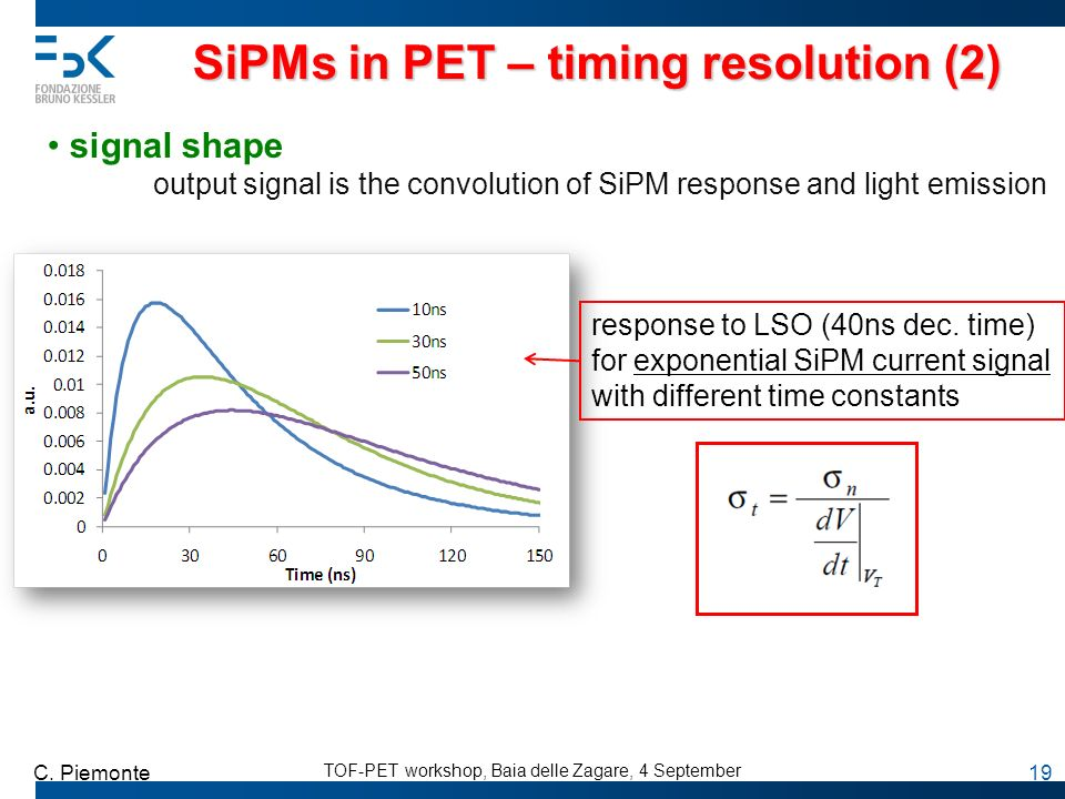 SiPMs in PET – timing resolution (2)