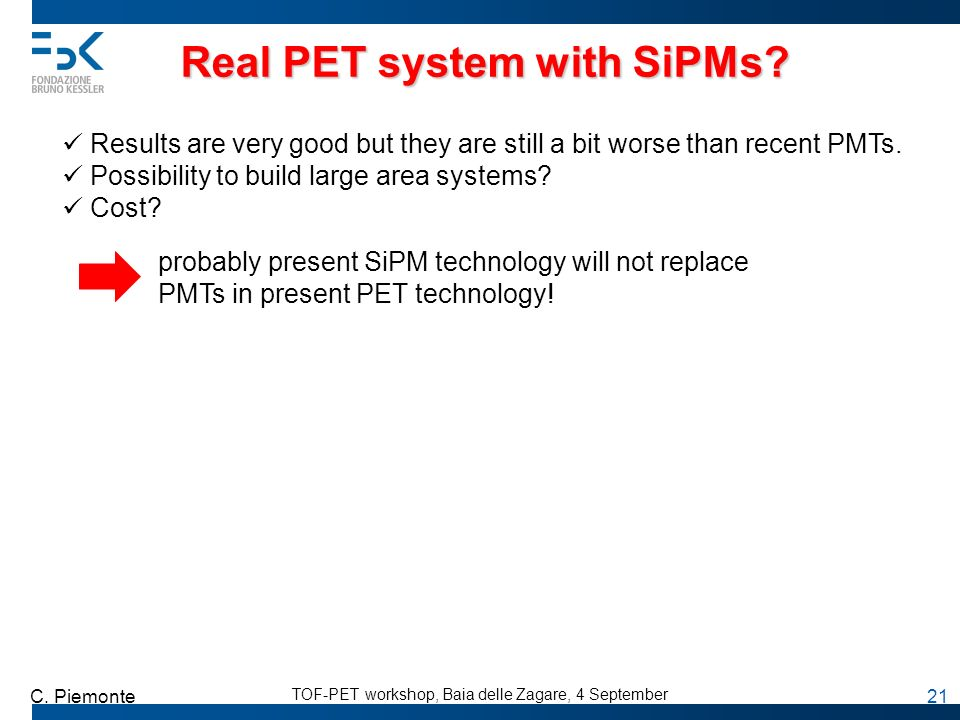 Real PET system with SiPMs