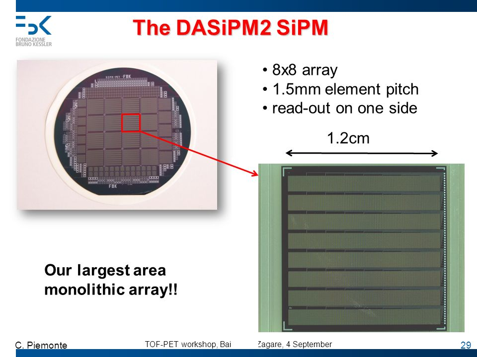 The DASiPM2 SiPM 8x8 array 1.5mm element pitch read-out on one side