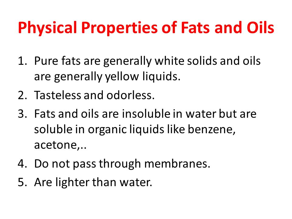 Physical Properties of Fats and Oils
