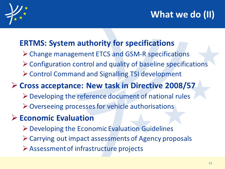 ERTMS: System authority for specifications