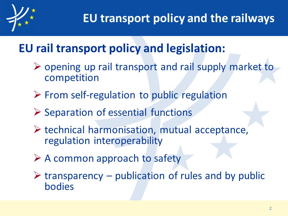 EU transport policy and the railways