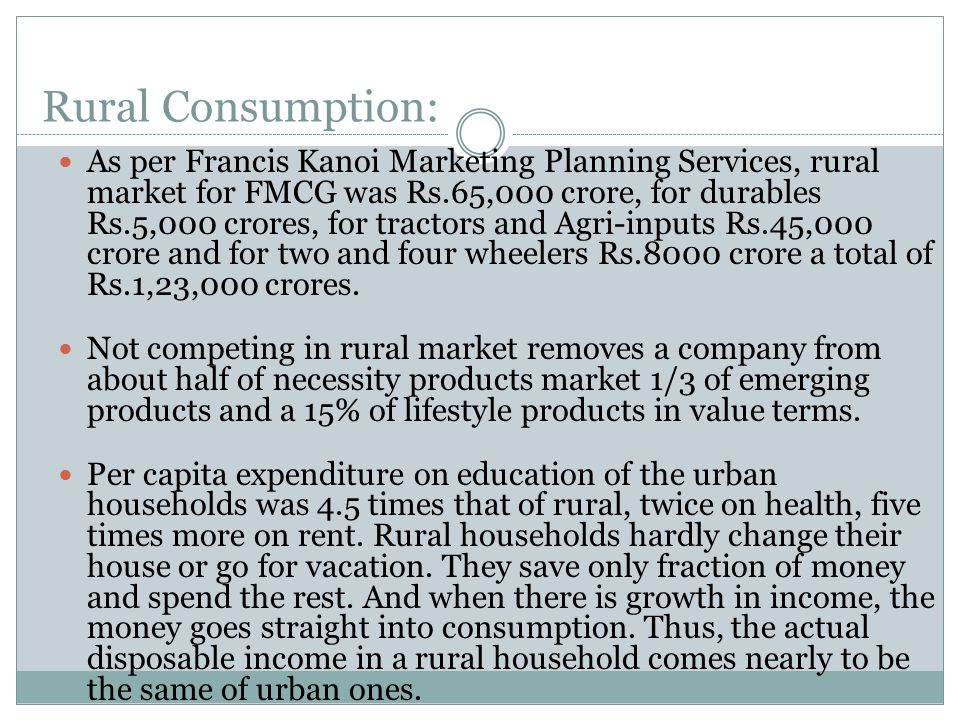 Indian Rural Market: A Brief Profile - ppt video online download
