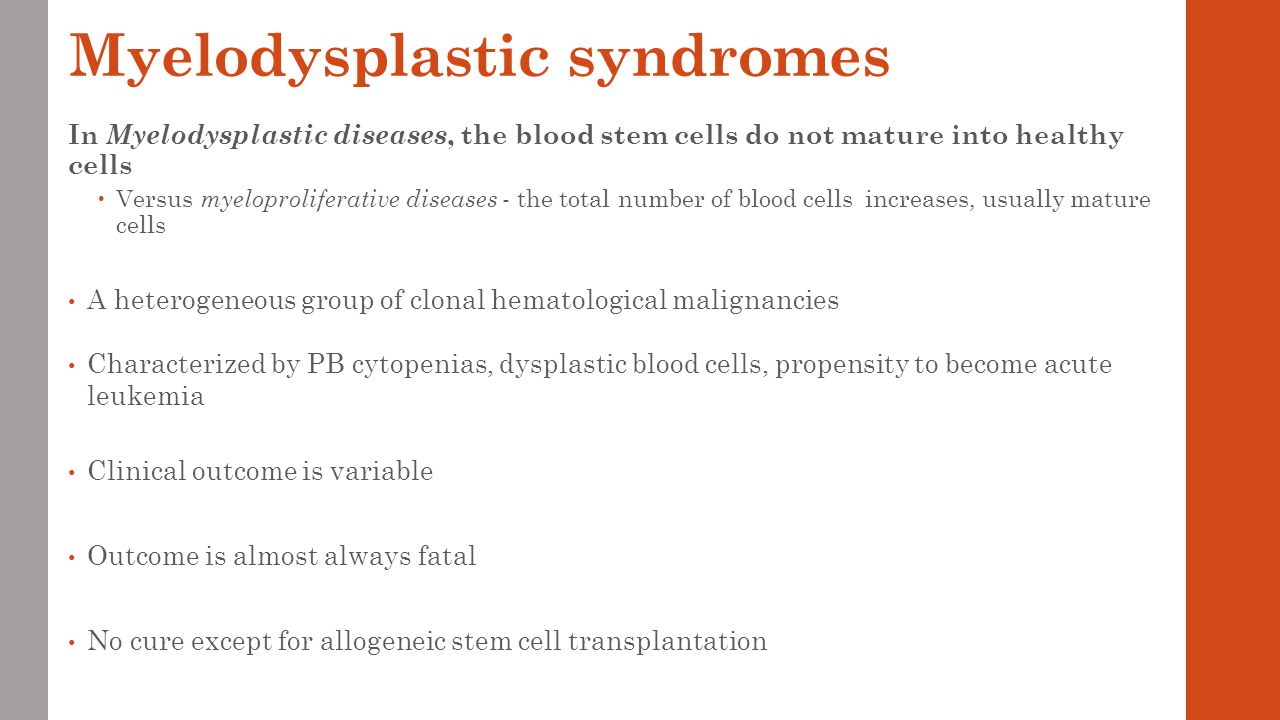 Lecture 6 And 7 Myelodysplastic Syndromes Chronic Lymphocytic Types Of White Blood Cells Diagram Treatment
