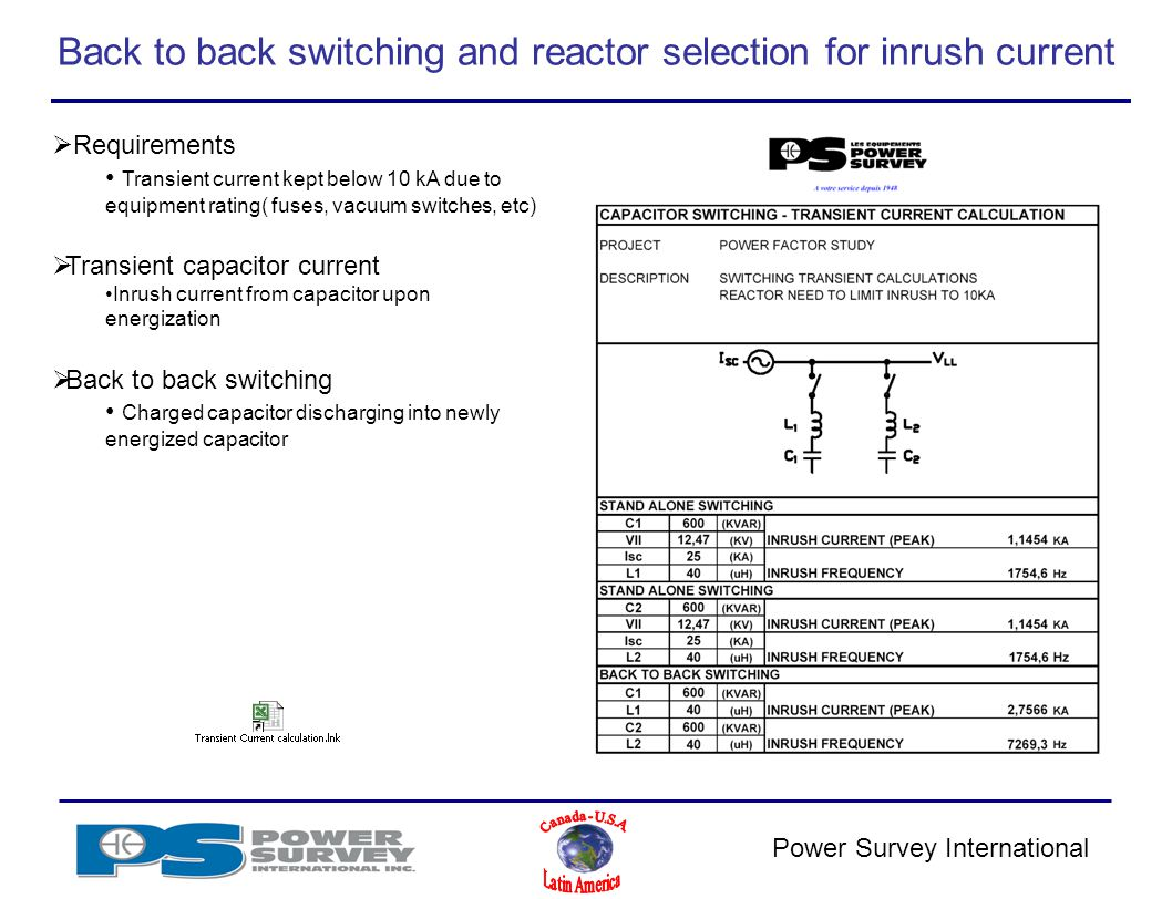 Power Survey Application Product Training Ppt Video Online Download Mediumvoltage Switchgear Switching Of Capacitors And Filter Circuits Back To Reactor Selection For Inrush Current