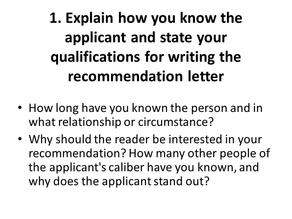 Writing A Letter Of Recommendation Ppt Download