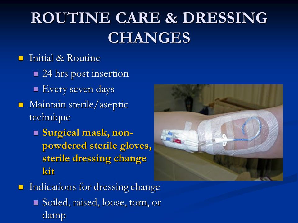 routine care dressing changes
