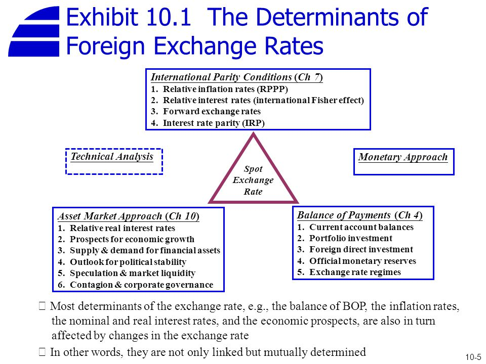 Exhibit 10 1 The Determinants Of Foreign Exchange Rates