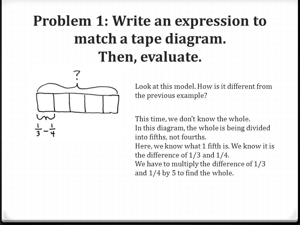 By the end of the lesson you will be able to ppt video online problem 1 write an expression to match a tape diagram then evaluate ccuart Choice Image