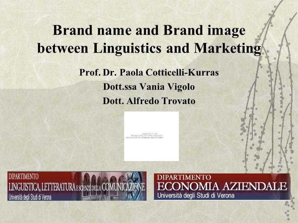 Brand name and Brand image between Linguistics and Marketing