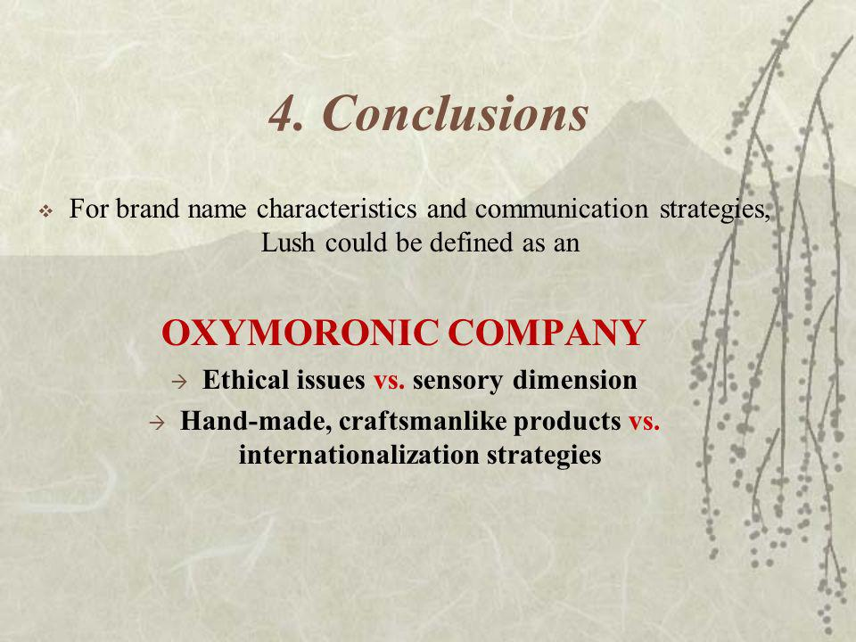 4. Conclusions OXYMORONIC COMPANY