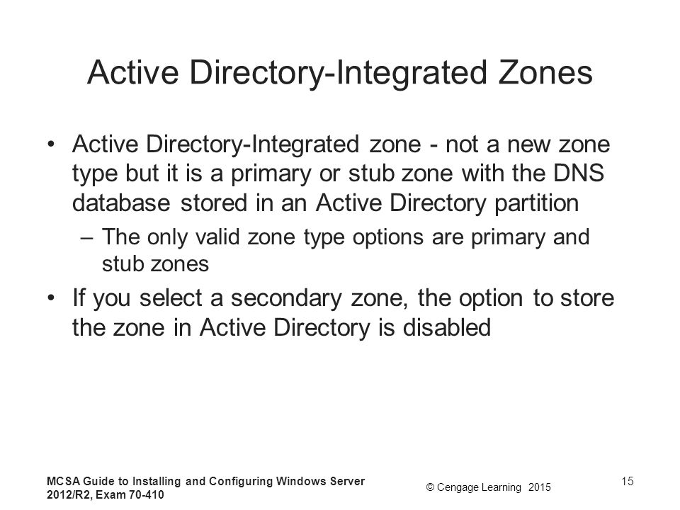 Active Directory-Integrated Zones