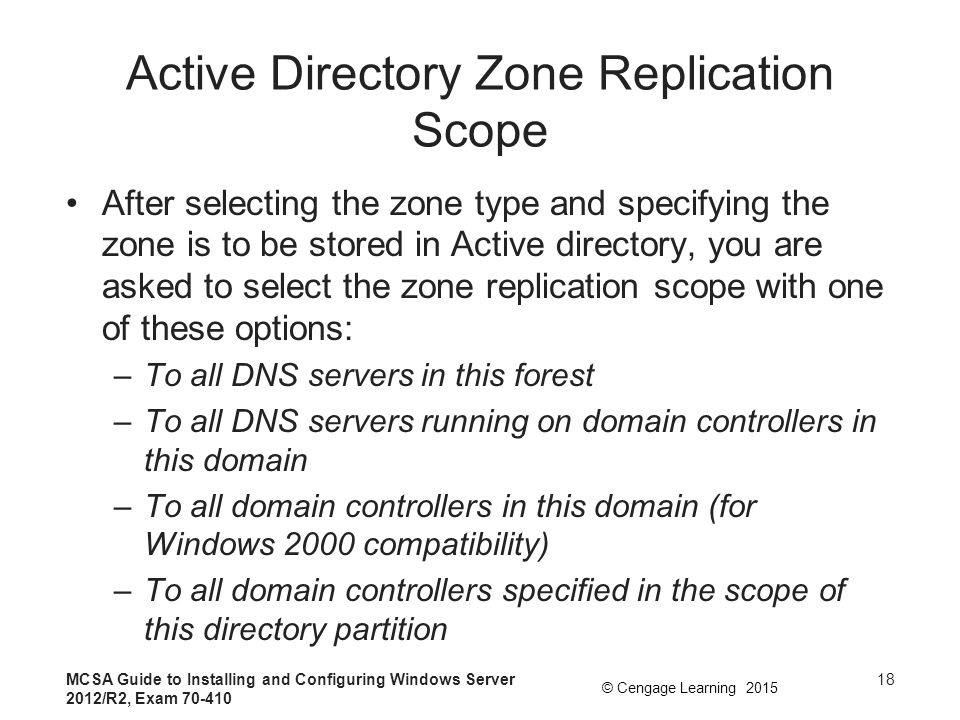 Active Directory Zone Replication Scope