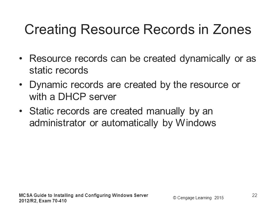 Creating Resource Records in Zones