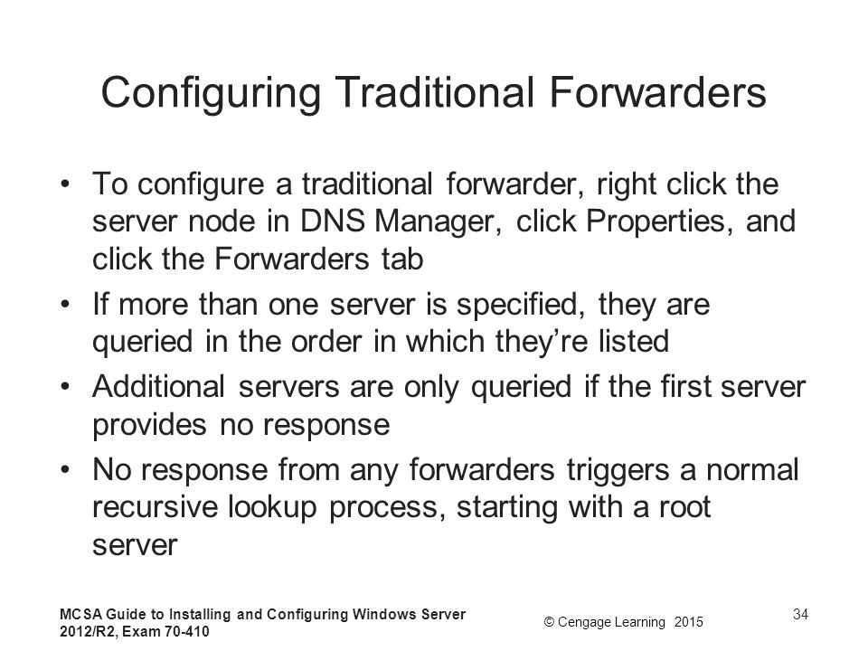 Configuring Traditional Forwarders
