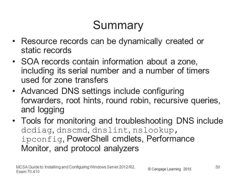 Summary Resource records can be dynamically created or static records