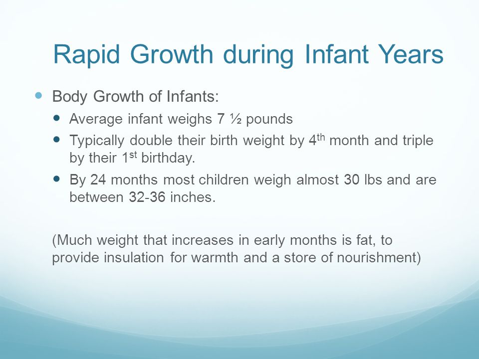 Rapid Growth during Infant Years