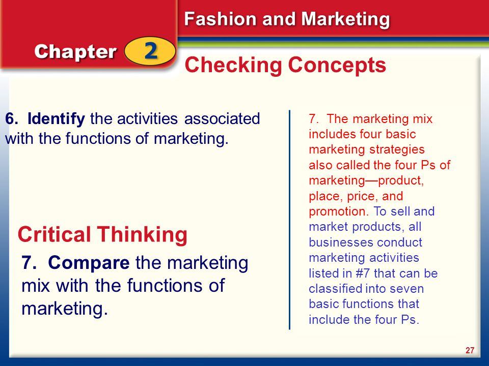 Checking Concepts Critical Thinking