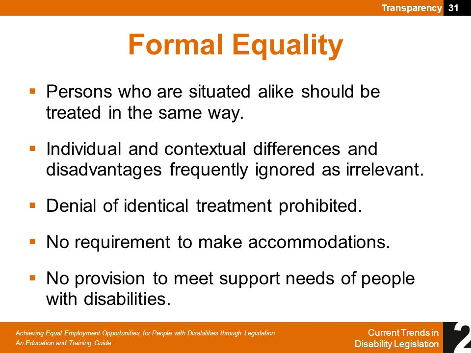 what is formal equality