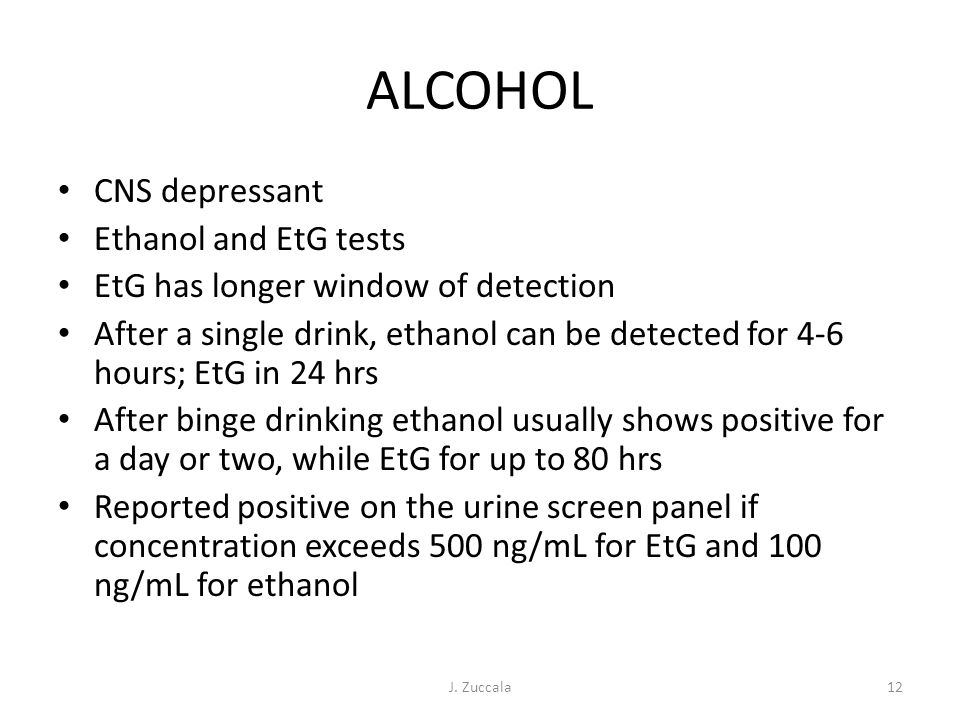 Energy Drink Etg Test