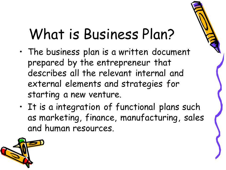 what is a business plan for