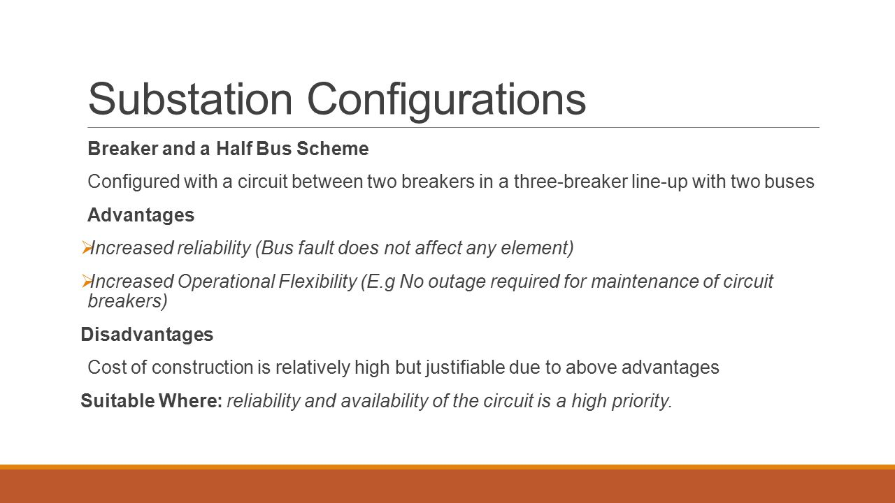 Substation Configurations
