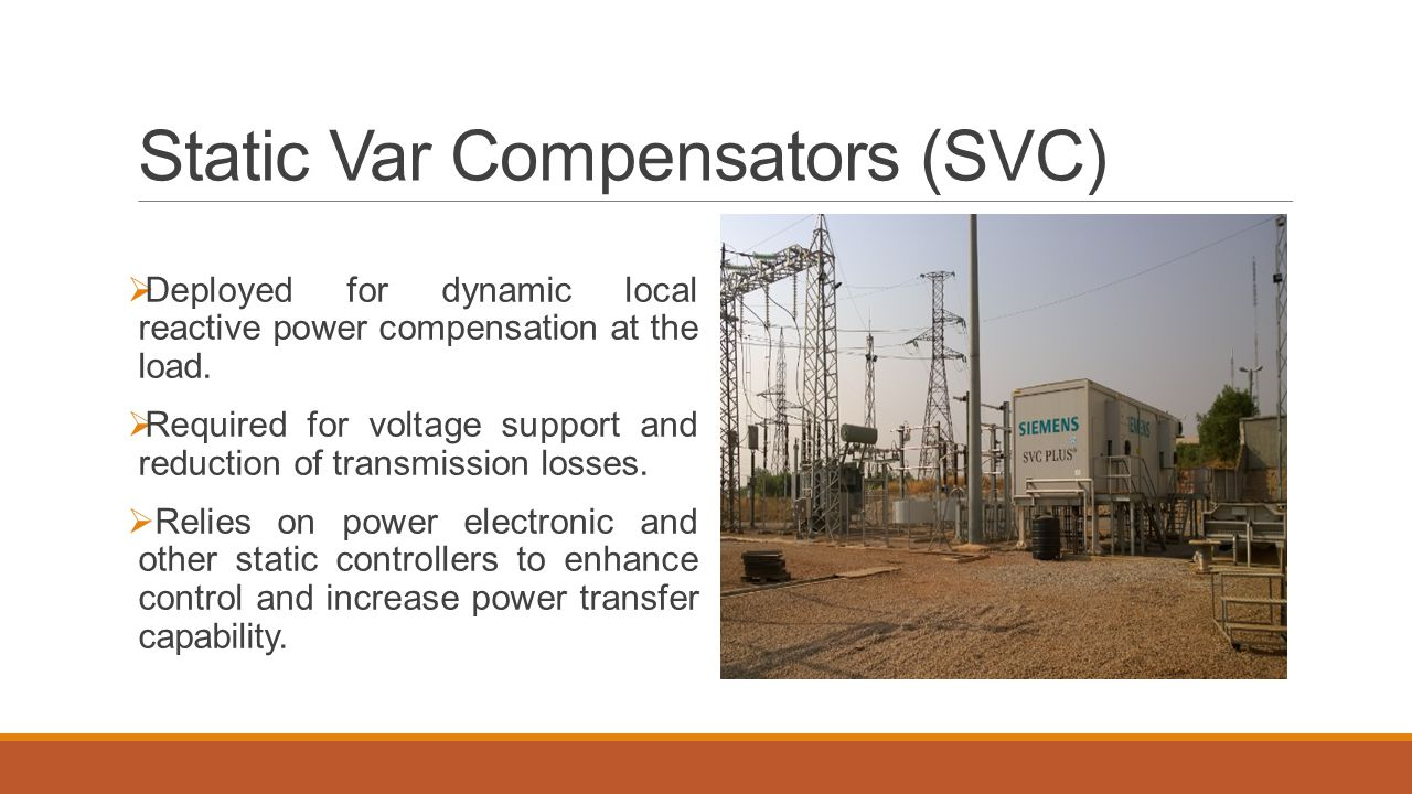 Static Var Compensators (SVC)