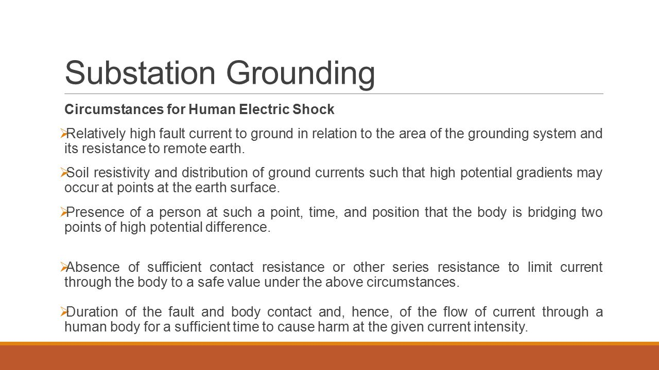 Substation Grounding Circumstances for Human Electric Shock