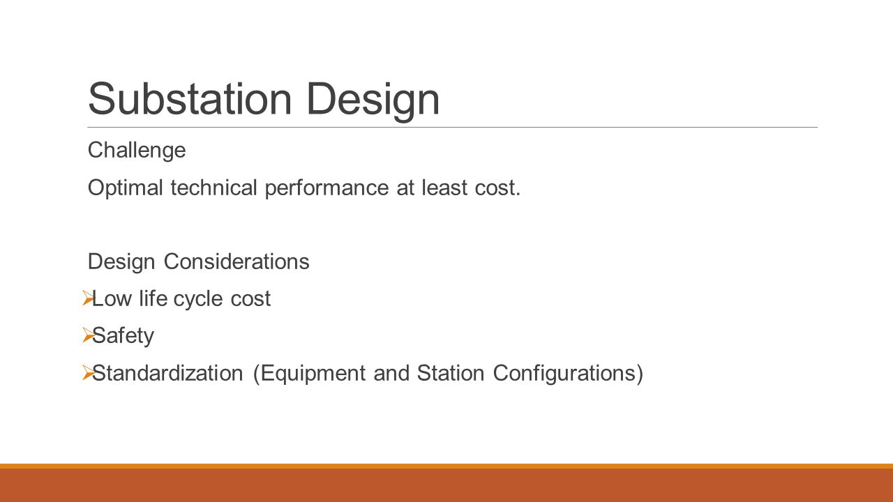 Substation Design Challenge