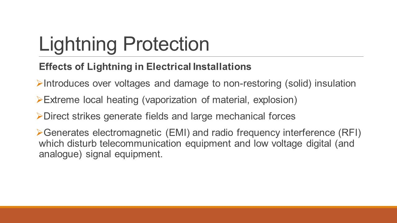 Lightning Protection Effects of Lightning in Electrical Installations