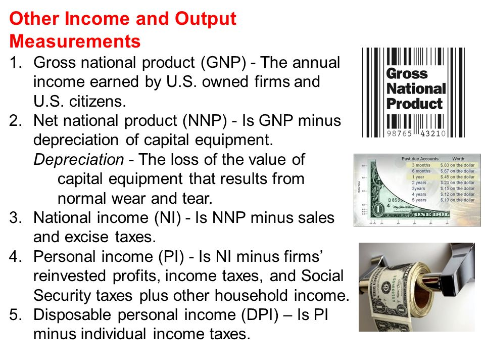 Other Income and Output Measurements