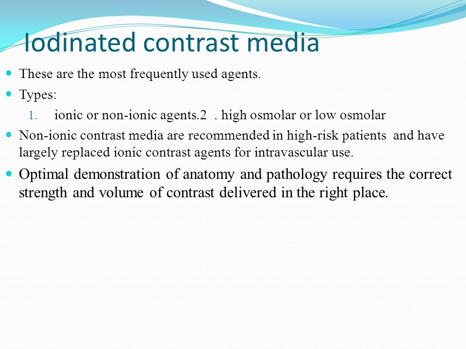 iodinated contrast media ppt
