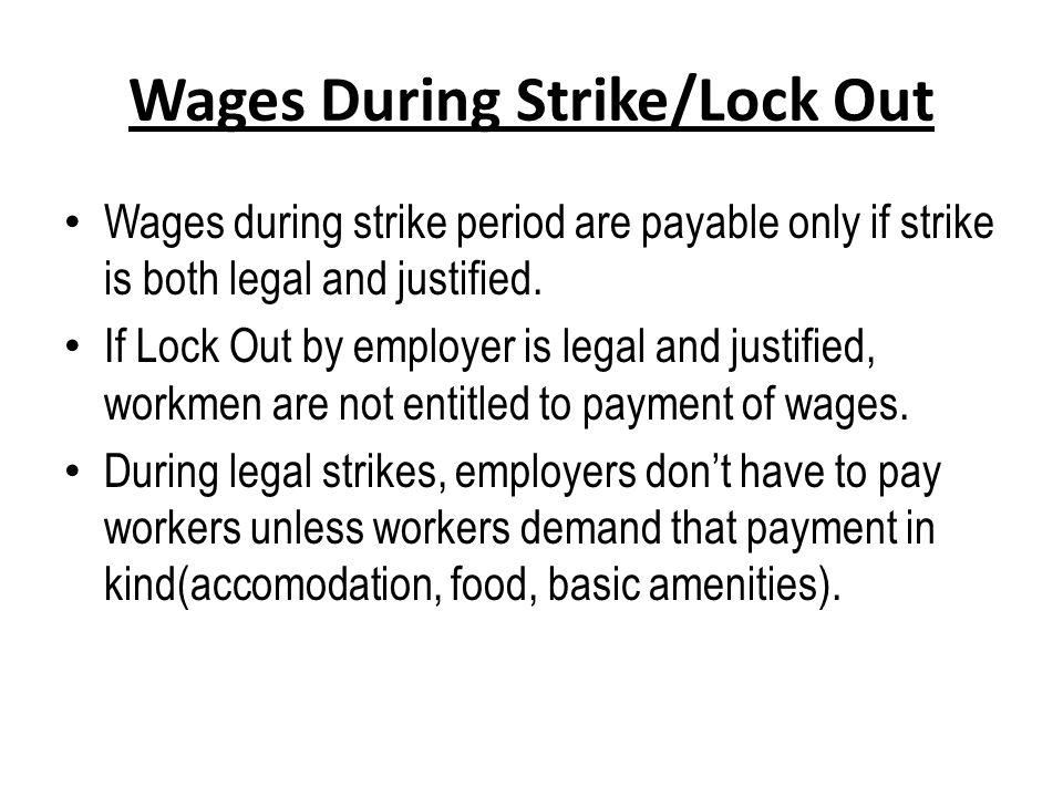 distinguish between strike and lockout