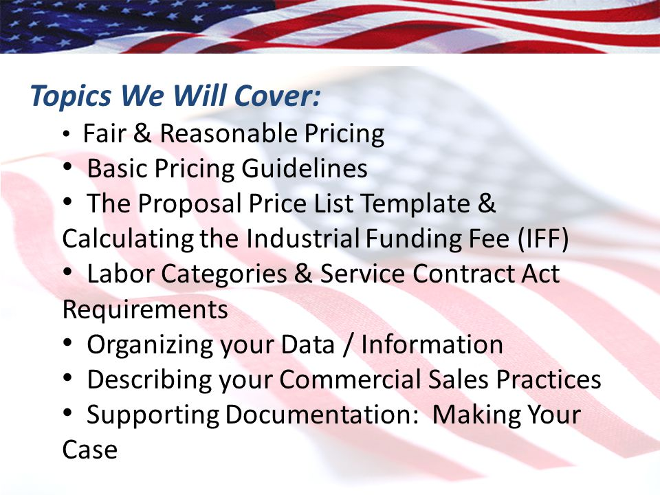 Preparing The Gsa Schedule Pricing Proposal Ppt Video Online Download