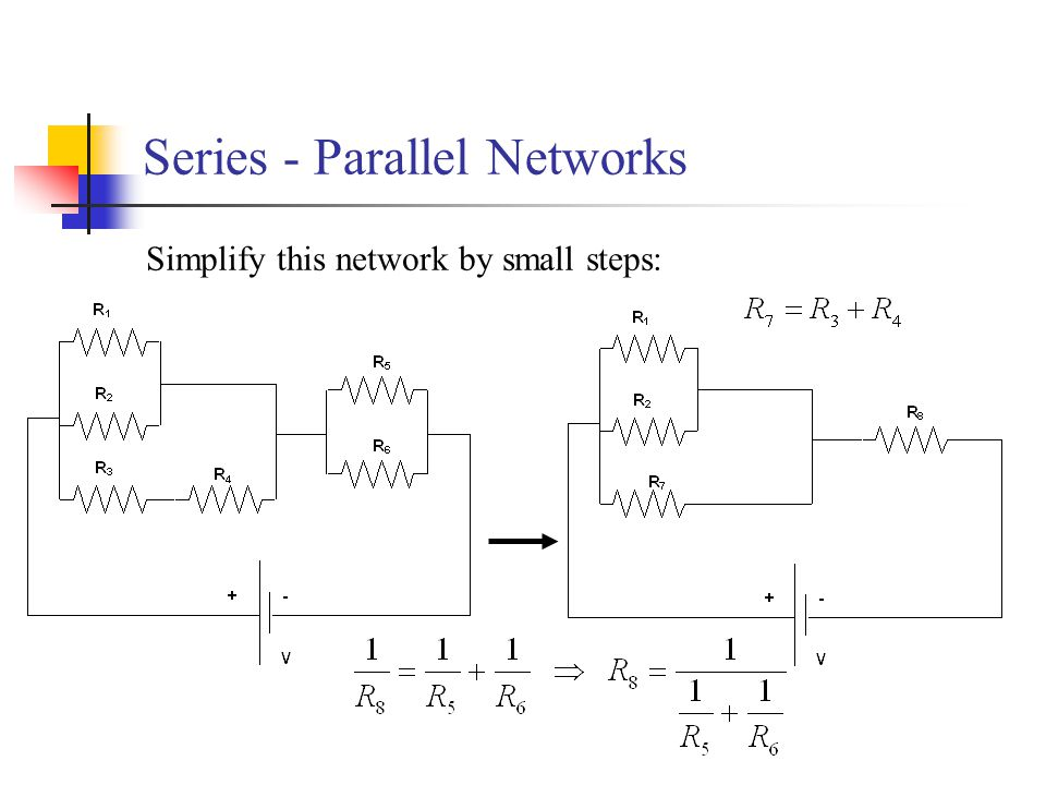 Series - Parallel Networks