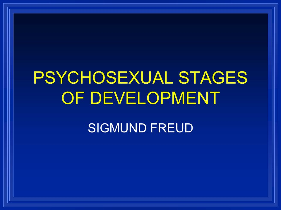 Sigmund freud psychosexual development pdf