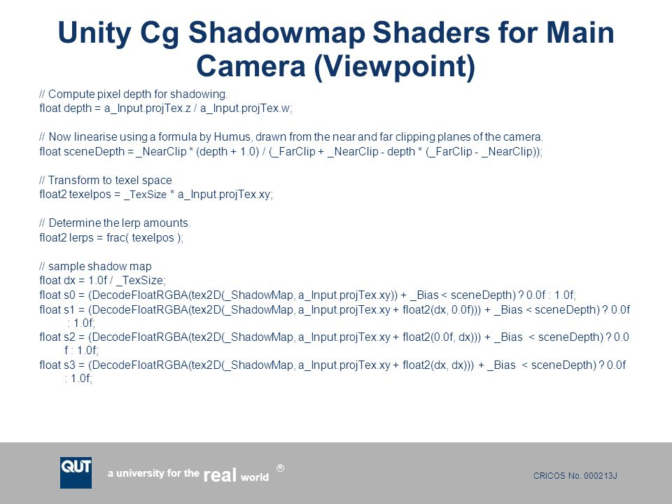INB382/INN382 Real-Time Rendering Techniques Lecture 9: Shadows and