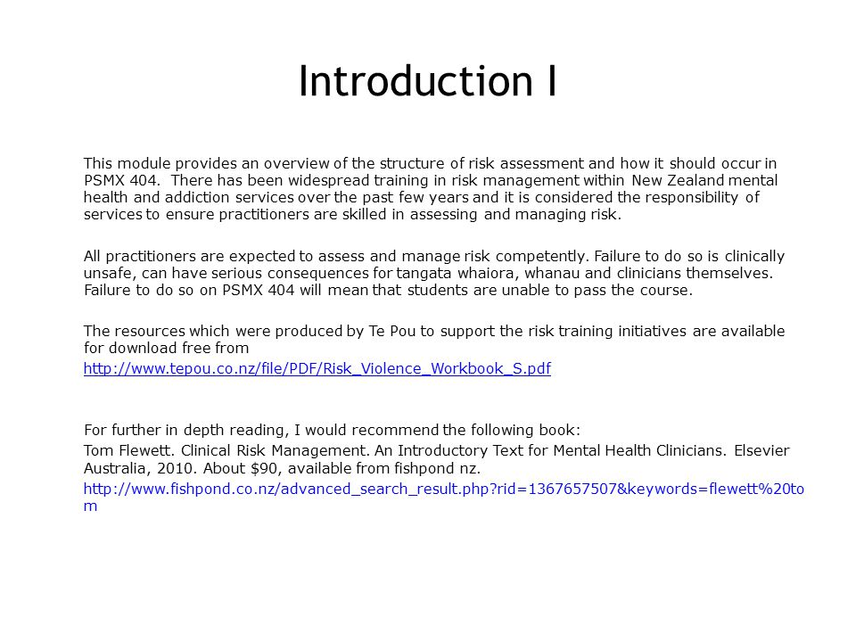 Risk Assessment Self Directed Learning Module Ppt Download