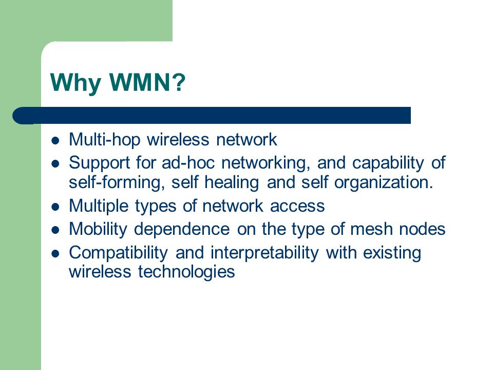 Wireless Mesh Networks - ppt video online download